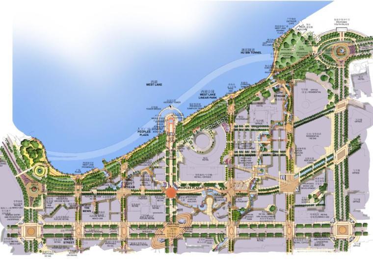 [江苏]杭州市湖滨地区商贸旅游特色街居设计总体规划设计文本(PDF+116)
