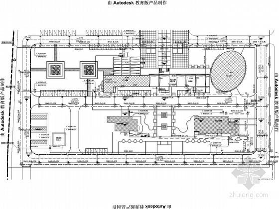 [湖北]六层办公楼给排水电施工图(含礼堂)