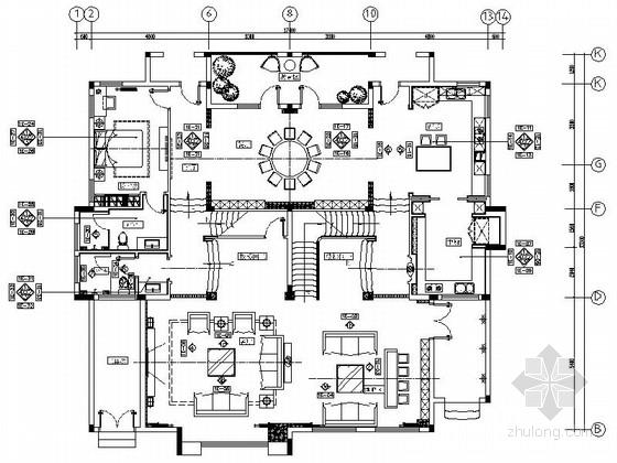 [长沙]私家花园现代高档奢华三层别墅装修图(含效果)