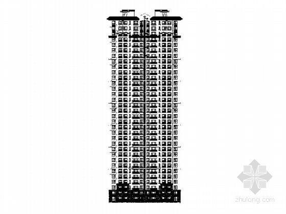[吉林]三十三层新古典风格住宅建筑设计施工图(图纸精细 推荐参考)