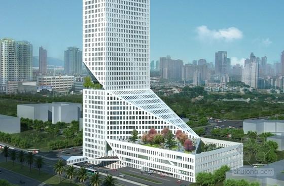 [深圳]超高层地铁上盖办公综合体建筑设计方案文本