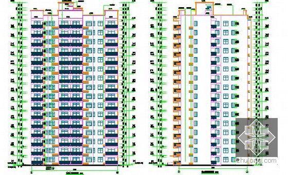 [全套]湖南保障房项目消防工程量清单控制价编制实例(含招标文件施工图纸300张标底)-2号楼立面图