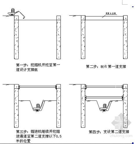 [天津]地铁深基坑开挖支护施工方案(钢支撑 地连墙)