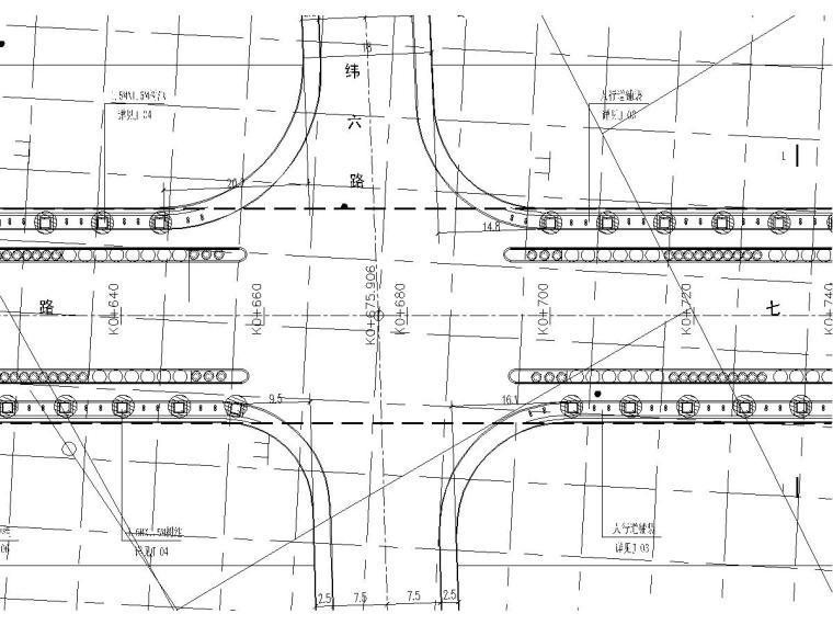 城市道路景观工程施工图设计11张