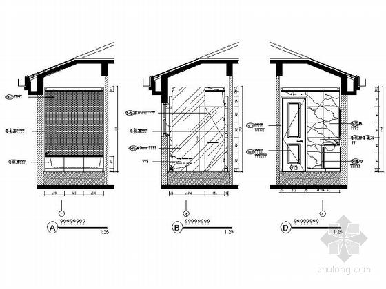 [成都]北美风格三层别墅样板间室内装修图(含方案文本) 立面