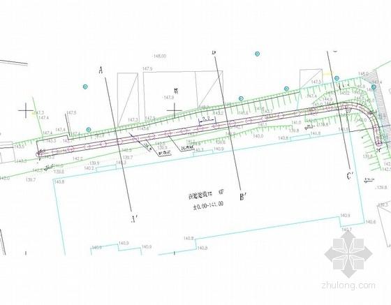 [浙江]抗滑桩边坡支护施工图