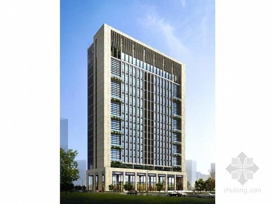 [深圳]典雅风格高层科技企业办公楼建筑设计方案文本(含CAD及SU图纸)