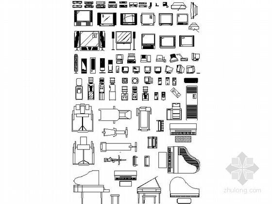 常用现代家居CAD图块下载