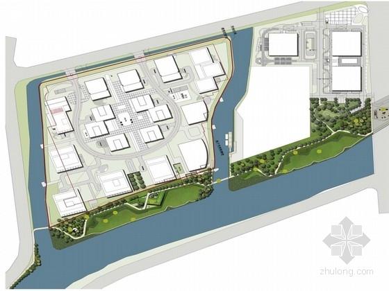 [上海]线性形状滨河游步道景观规划设计方案