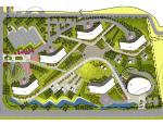 [辽宁]地形花园广场景观扩初方案设计