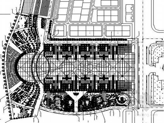 [广东]乡镇人民广场景观设计施工图
