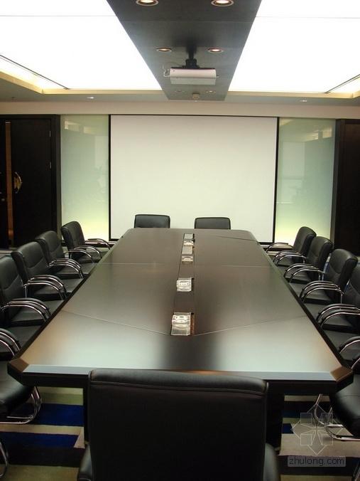 [广东]独创省级国家权力机关办公楼室内装修施工图(含实景)小会议室实景图