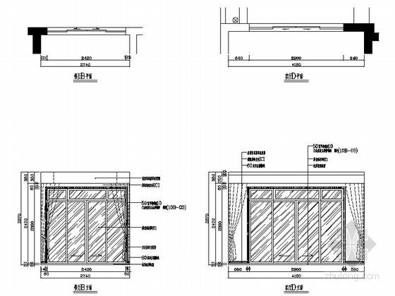 [湖南]温馨现代130平四居室室内装修施工图餐厅立面图