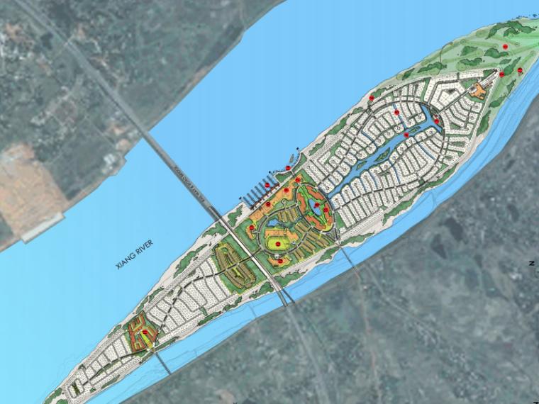 [湖南]长沙月亮岛度假社区整体规划设计