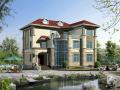 欧式新农村3层独栋别墅建筑设计施工图(含全套CAD图纸)