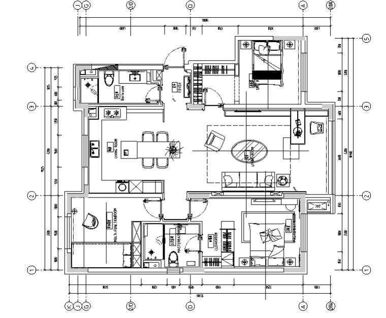 桃子小姐的夏天|新视觉主义样板间设计施工图(附效果图)
