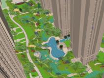 精致欧式居住区景观SU模型