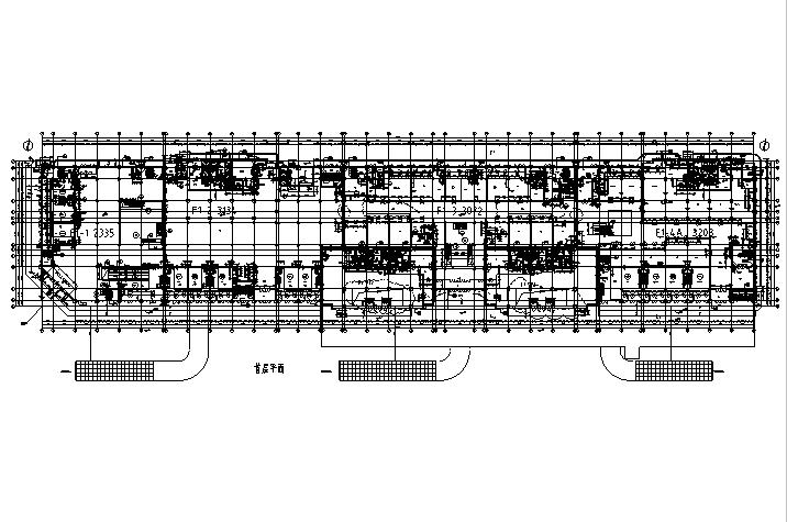 [内蒙古]高层框架结构办公、公寓及商业餐饮建筑施工图_3