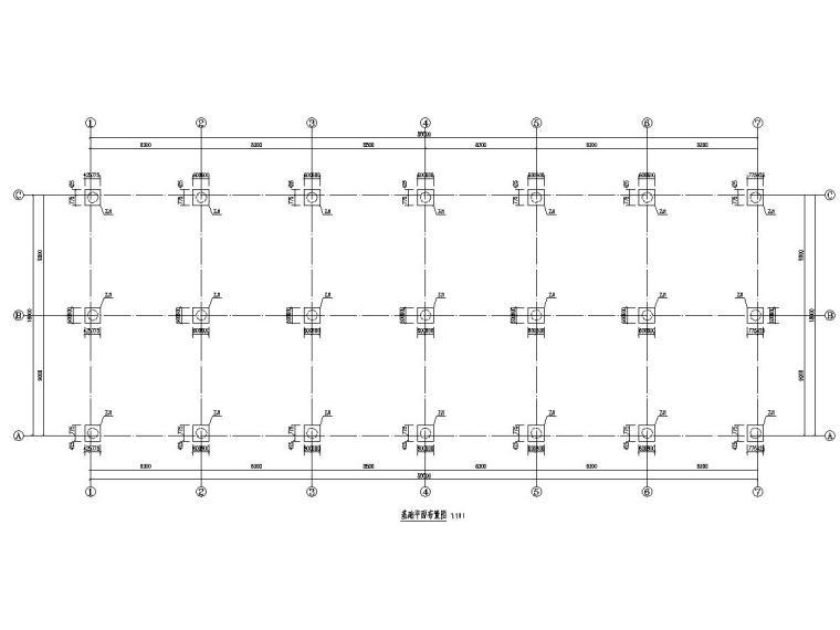 一套完整的顶层为门式钢架屋面的钢框架图纸