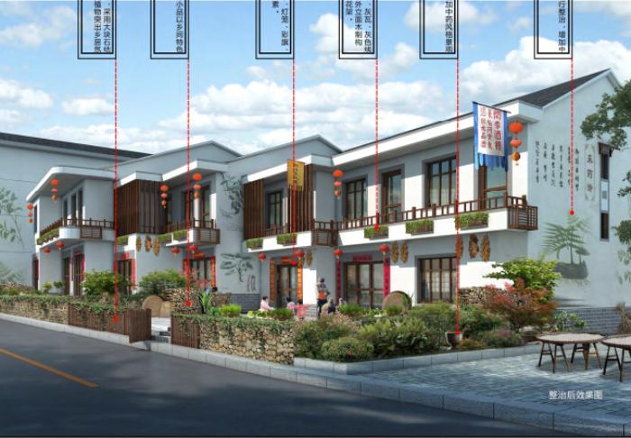 [浙江]乡镇环境综合整治改造城市规划景观设计-景观效果图4