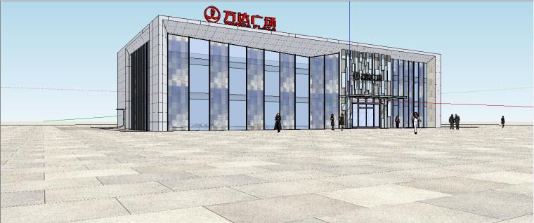 -广州万达广场公建售楼处SU模型