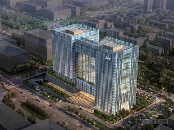 [天津]某二十一层办公楼建筑方案文本(投标文本)