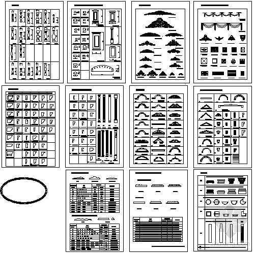 欧式构件图库