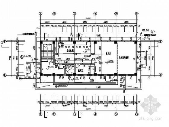 某学院中心配电房和地下水泵房建筑施工图