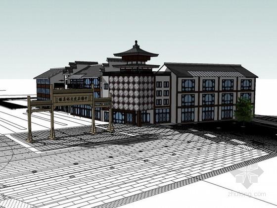 古代名镇同里sketchup模型下载