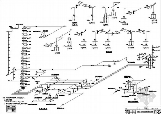 成都某商城给排水系统图