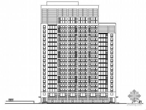 某二十二层综合楼建筑施工图(含人防工程和效果图)