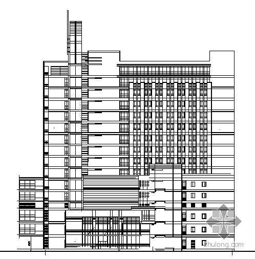 上海某医院住院楼建筑方案初步图