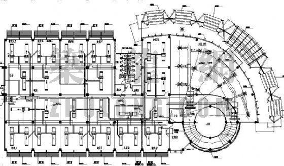 某办公楼宿舍楼中央空调设计平面图