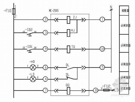 低压设备控制原理图