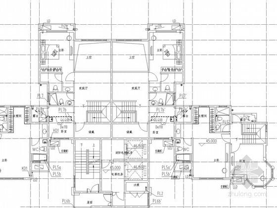 [河南]高层住宅楼给排水及消防施工图(热水系统)
