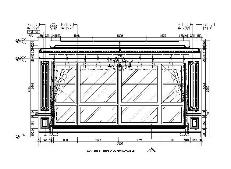 [吉林]经典豪华法式样板房室内设计施工图(含设计方案)_7