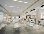 现代办公大厅3D模型下载