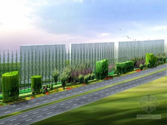 [浙江]红竹主景道路旁绿化景观规划设计方案
