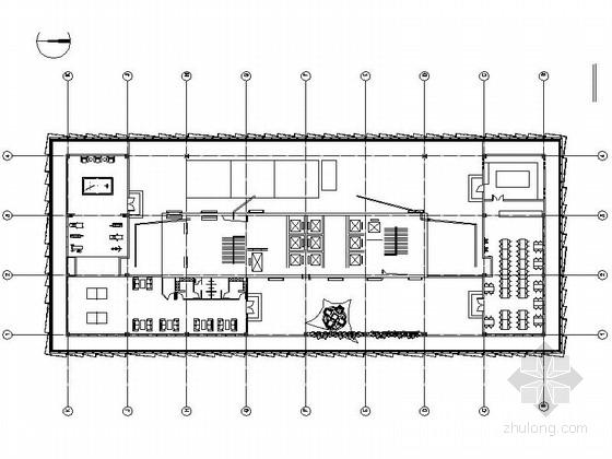 [北京]5A级现代风格商务写字楼装修改造施工图(含效果)