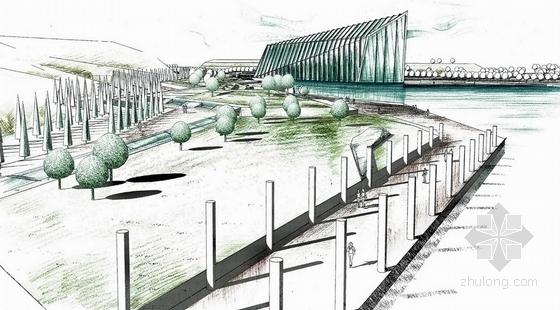 [武汉]舰之魂战争纪念性旅游景区景观设计方案(超精美效果图)-景观效果图
