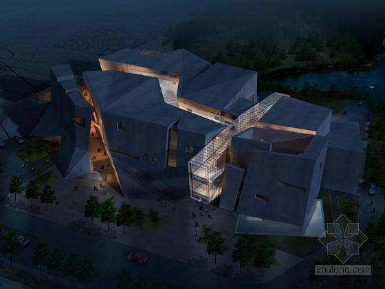 [重庆]现代风格2层纪念馆建筑设计方案文本