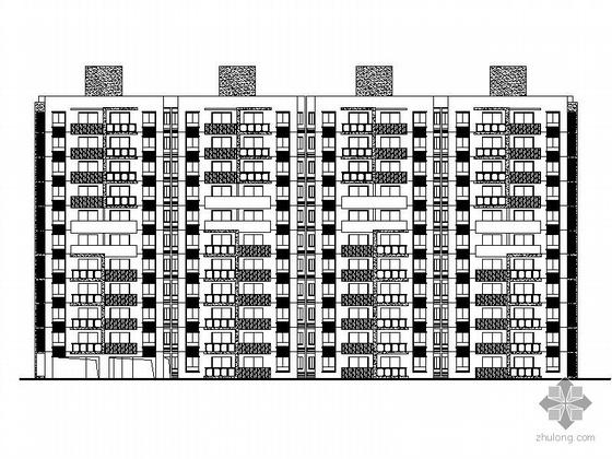 [温州]某住宅区5号十一层板式住宅楼建筑施工图