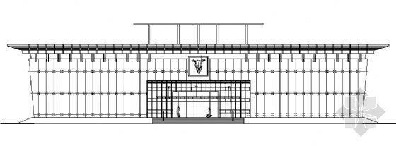 某二层城市展览馆建筑方案图