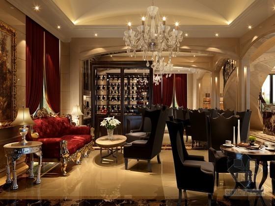 豪华欧式风格售楼处休息厅3d模型下载