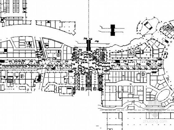 [广东]超大型主题购物公园巴黎区景观设计施工图