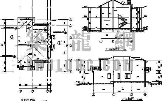 二层别墅建筑和结构图