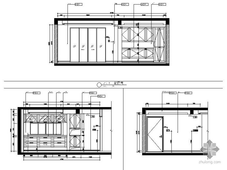 [万科]某小区05公寓115户型三居室内设计图_2