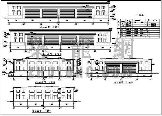 轻型钢结构厂房(建施+结施)