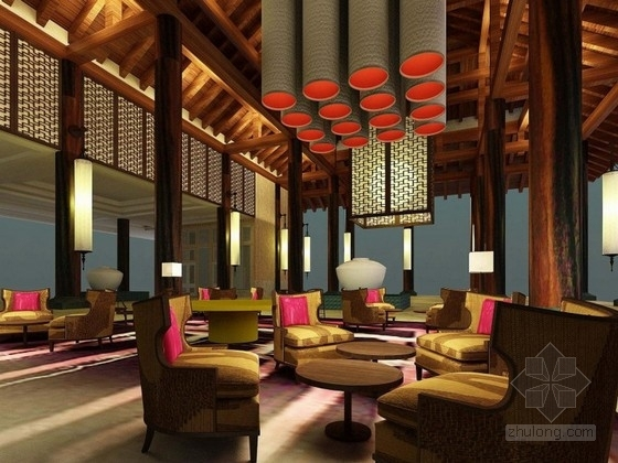 [海南]某五星级混搭风格酒店室内设计概念方案
