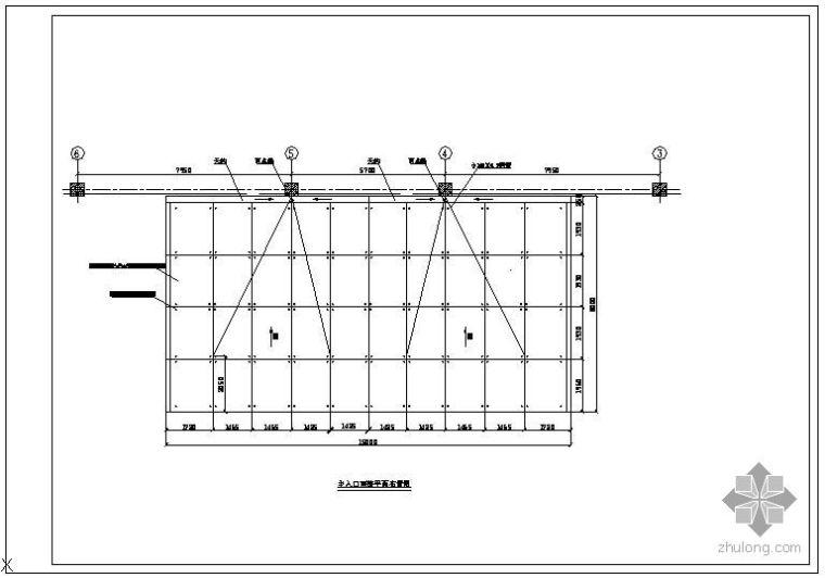 某点式雨蓬设计节点构造详图